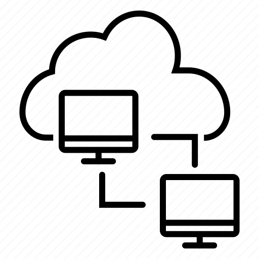 cloud hub, cloud network, cloud server, communication device, data server, network icon