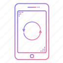 cellphone, communication, devices, loop, phone, repeat, technology icon