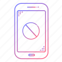 cancel, cellphone, communication, devices, error, phone, technology icon