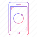 cellphone, communication, devices, phone, repeat, rewind, technology icon