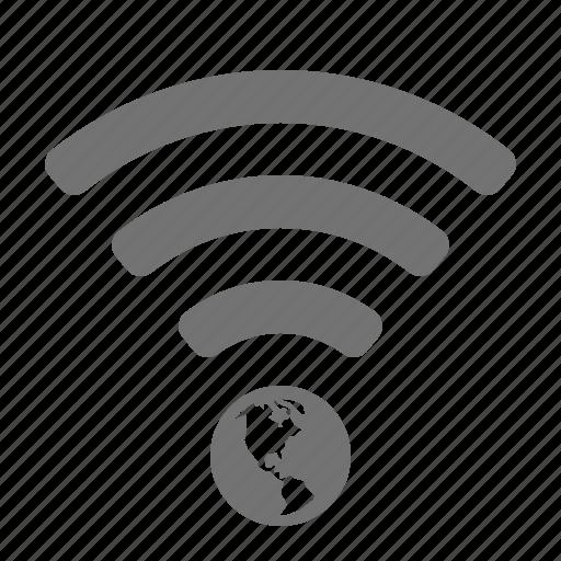 earth, global, globe, internet, planet, wifi, wireless icon