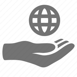 care, earth, global, globe, hand, offer, protection icon