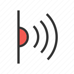 connection, infrared, laser, light, rays, red, signals icon