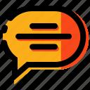 chat, comment, communication, massage, talking