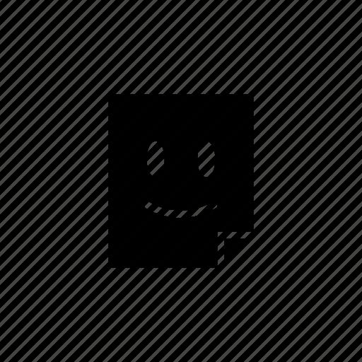 emoticon, sticker icon
