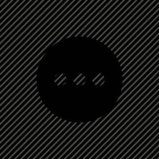 dots, info, more icon