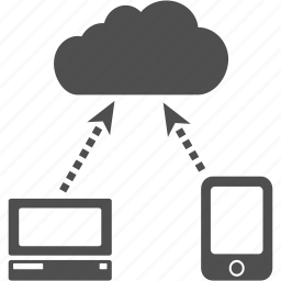 cloud, communication, computer, connection, network, phone icon