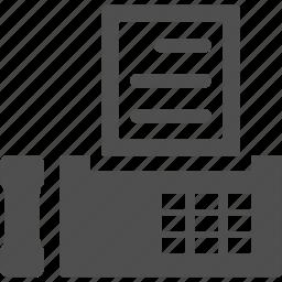 call, device, fax, phone, print, printer icon