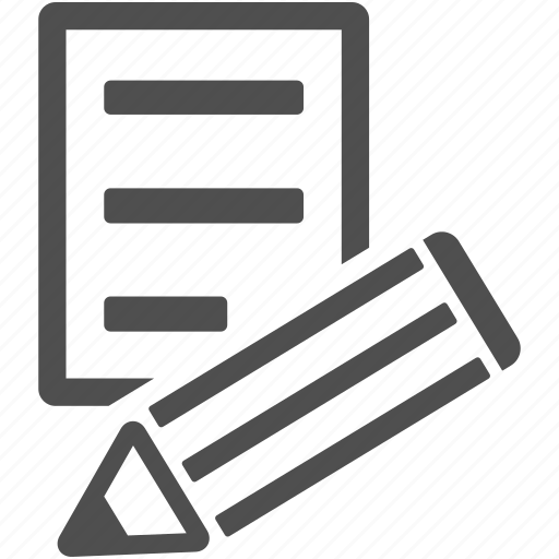 edit, letter, pen, pencil, write, writing icon