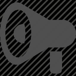 bullhorn, loud, megaphone, speaker icon