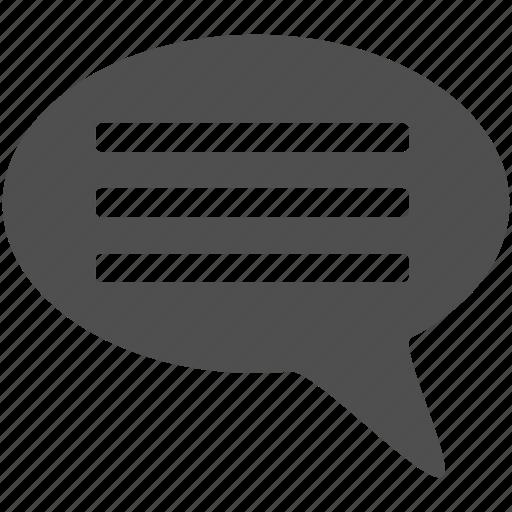 bubble, chat, comment, message, speach icon
