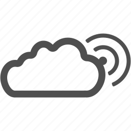 cloud, connection, internet, technology, wireless icon