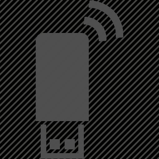 communication, internet, signal, stick, wifi, wireless icon