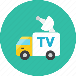 broadcasting, truck icon
