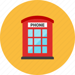 booth, phone icon