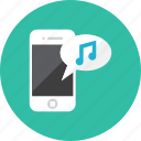 music, smartphone icon