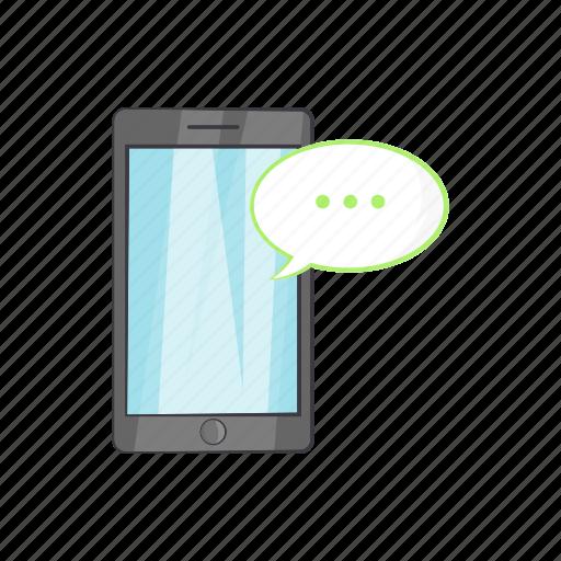 cartoon, chat, communication, message, phone, smartphone, web icon