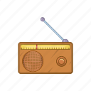 audio, broadcast, cartoon, music, radio, retro, sound icon