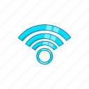 cartoon, communication, computer, network, sign, web, wi-fi icon