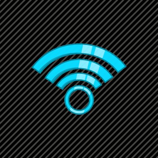cartoon, communication, computer, network, sign, web, wi-fi icon