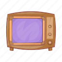broadcast, cartoon, old, retro, screen, television, tv icon