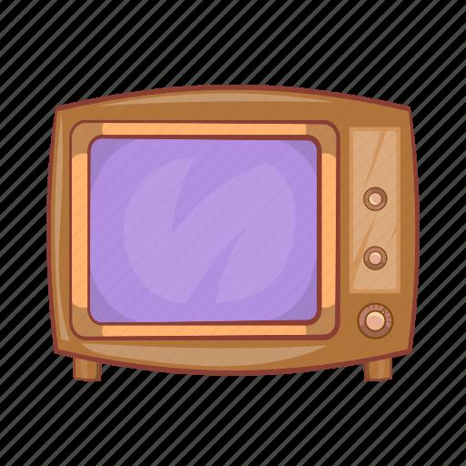 broadcast, cartoon, old, retro, screen, television, tv icon