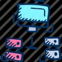 databases, hosting, internet icon, web hosting, web server icon
