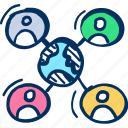 communication, connections, people, social, team icon icon