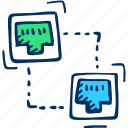 connection, ethernet, internet, network, port icon icon