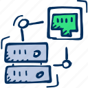 port icon, internet, ethernet, database, connection, server