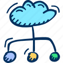 cloud, cloud computing, hosting, network icon icon