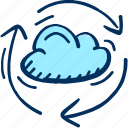 cloud, data, storage icon, traffic, weather icon