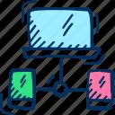 screen, monitor, device, share icon, mirror