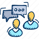 chat, comments, communication, discussion icon, people icon