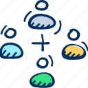 connections, social, social network icon, team