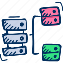 hosting, rack, server, server icon, server networking, storage icon