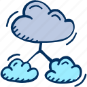 cloud, hosting, networking, share, social media icon