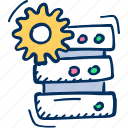 configuration, gear, server, settings icon