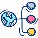 global, network icon, connection icon