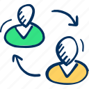 share, connect, user icon, avatar