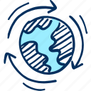 global, planet icon, earth