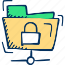 folder, archive, security icon