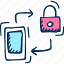 lock, mobile, security icon icon
