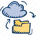 cloud, connection, file, folder, share icon icon
