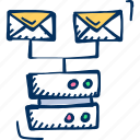 hosting, mail server, server icon icon