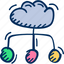 share, cloud, storage icon