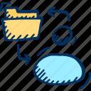file, folder, user icon