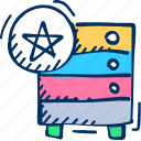 favorite, storage icon, star, server