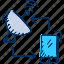 antenna, connect, dish, internet, mobile, phone, satellite icon