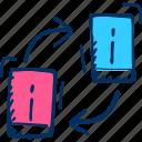 mobile phone, phone, mobile, mobile sync, mobile syncing, sync icon, refresh